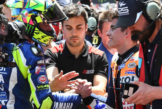 Rossi Dan Marquez Akhirnya Berdamai Di GP Catalunya