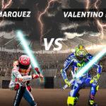 Keren! Duel Rossi Vs Marquez Di Dunia Kamen Rider