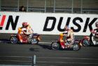 Aksi Kocak Marquez Naik Motor Bebek Sampai Nabrak