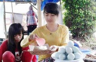 Heboh Penjual Pecel Cantik Mirip Nabilah JKT48