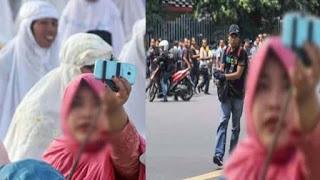 Cuma Di Indonesia Pedagang Tetap Jualan Saat Aksi Terorisme