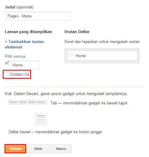 Cara Membuat Form Contact Us Di Blog