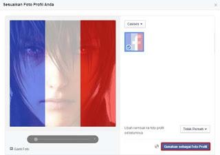 Ganti Foto Profil FB Dengan Filter Bendera Perancis
