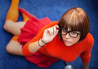 Cosplay Sexy Velma Dinkley Si Jenius Berkacamata