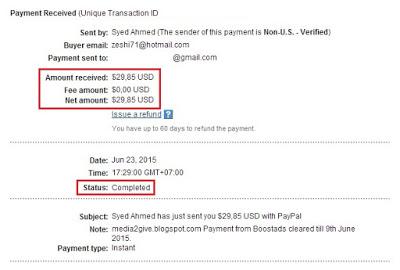 Payout Pertama Dari Boostads.net