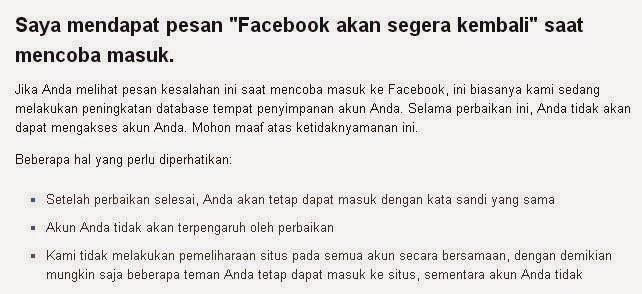 Penyebab Facebook Tidak Bisa Diakses